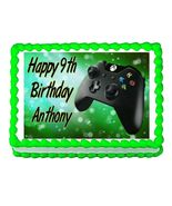 Xbox Gaming remote controller party edible cake topper frosting sheet - $8.98