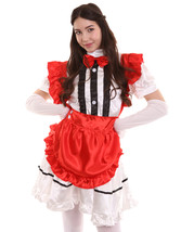 Adult Women's Anime Cosplay French Maid Fancy Uniform Costume | Red Cosplay Cost - £19.51 GBP