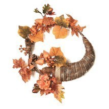 "Northlight 20"" Autumn Harvest Artificial Pinecone Berry Leaves Cornucopi... - €27,06 EUR"
