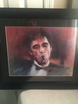 FRAMED AL PACINO SCARFACE PRINT                  3687 - $38.69