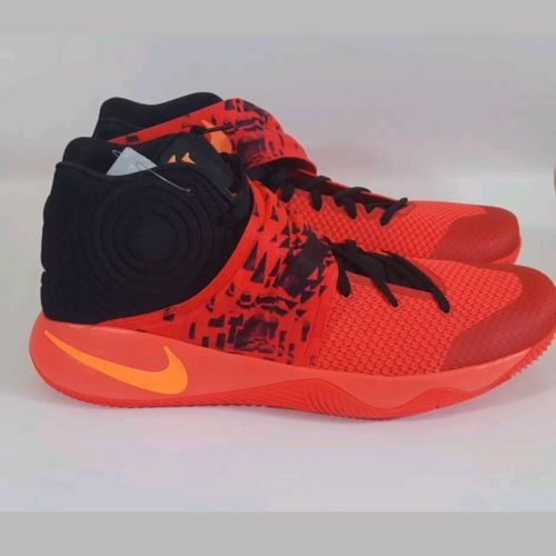Nike Kyrie 2 Inferno Bright Crimson Atomic Orange Black Red 819583-680 Sz 18