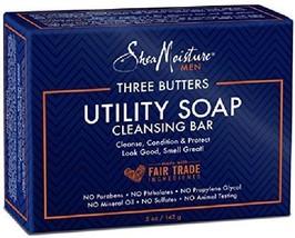Shea Moisture Mens Utility Soap 5 Ounces (3 Pack) - $19.76