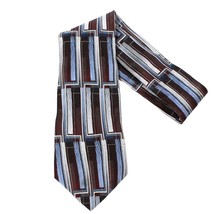 "VTG Murano Extra Long Silk Necktie Executive Geometric 4 x 62"" Tie Execu... - $17.09"