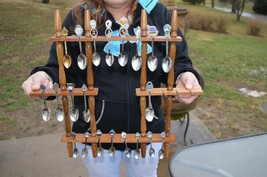 21 Vintage Souvenir Spoons with Display Rack nice condition - $56.06