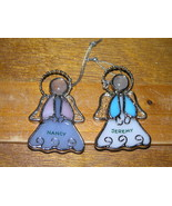 YOUR CHOICE Nancy or Jeremy Stained Glass Dimensional ANGEL Christmas Tree - $7.69
