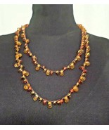 GNO Hand-woven red-orange beaded necklace by TARA PROJECTS artisans in g... - $3.95