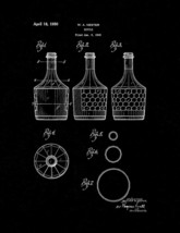 Bottle Patent Print - Black Matte - $7.95+
