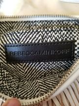 REBECCA MINKOFF FINN Leather Swing Tiered Fringe Clutch/Crossbody Bag White image 5