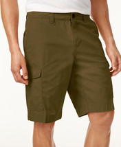 New Mens Tommy Hilfiger Flat Front Green Olive Cotton Cargo Shorts 30 - $24.99