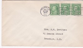FRANKLIN, IND. JANUARY 17 1933 ON 1C FRANKLIN STAMP - $2.64