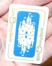 Vintage Walt Disney World Miniature Playing Cards Cinderella's Castle + Case - $10.45