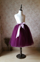Plum Little Girl Tulle Skirt for Dress up and Fairy Costumes 1-16 image 5