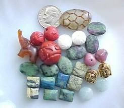 Wanderlust Beads Jade Elephant Green Gemstone Jewelry Making Nepal Bali ... - $28.88