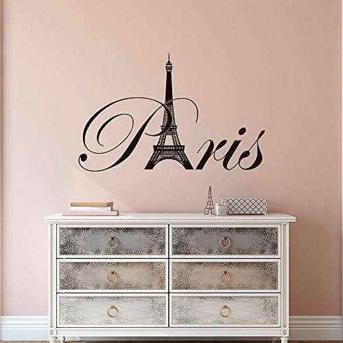 Bedroom Art Supplies: Paris Eiffel Tower Vinyl Vinyl Wall Decal- Paris Theme