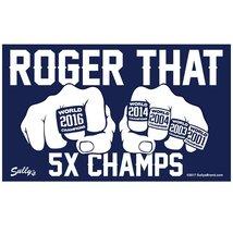 Roger That 5X Champs 3 1/2X6 Vinyl New England Patriots Sticker - $4.50