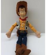 "Disney Store Woody Toy Story Doll 11"" Stuffed Bean Bag Plastic Head Cowboy - $12.50"