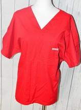 Cherokee Women's Red Short Sleeve Scrub Shirt  - $19.79