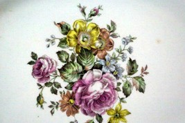 """Homer Laughlin L49N6 Pink Yellow Floral Oval Platter 11 1/2"""" image 2"""