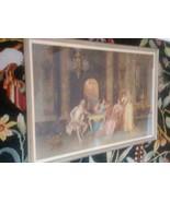 """VINTAGE Victorian Framed Print HUGE 42"""" X 26"""" """"CHESS GAME""""  BY  Francesc... - $148.50"""