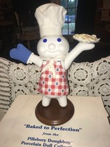 Pillsbury Doughboy Baked To Perfection Porcelain Doll By Danbury Mint In Box - $44.55