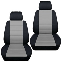 Front set car seat covers fits Jeep Wrangler JK 2007-2017  Charcoal with Stripes - $79.99