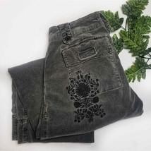 CAbi GRAY Cropped Capri Gaucho Wide Leg Pants WOMEN SIZE 2 - $28.50