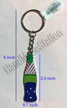 Coke Coca-Cola Shiny red Brazil Flag Bottle Keychain