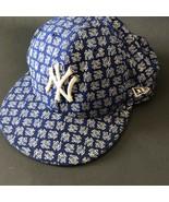 New Era NY Yankees Baseball Cap Hat Fitted Metallic Hip Hop MLB Blue Mens - $34.99