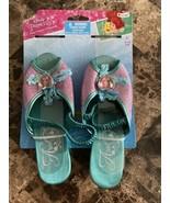 Disney Princess Ariel Girls Slides Dress Up Shoes Little Mermaid age 3 a... - $13.37