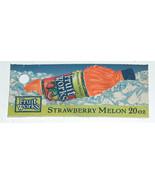 RARE Fruit Works Strawberry Melon Discontinued 20 oz Soda Bottle Soft Dr... - $11.95