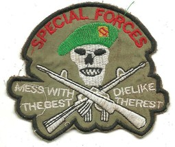 USMC Special Force Mess With The Best Die Like Vintage Vietnam Unoffical Patch - $11.87