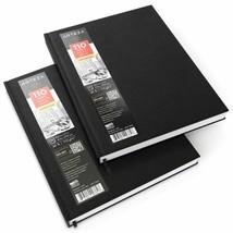 Arteza 8.5X11 Hardbound Sketchbook, Set Of 2 Heavyweight Hard Cover Sket... - $28.99