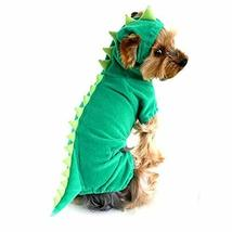 NACOCO Velvet Dinosaur Design Costume Dog Puppy Pet Clothes (Green, M) - £9.45 GBP