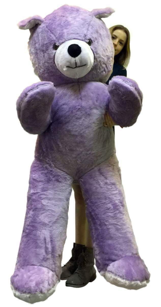 Primary image for American Made 6 Foot Giant Light Purple Teddy Bear Soft 72 Inch Life Sized Stuff