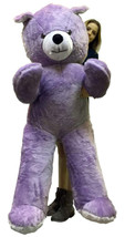 American Made 6 Foot Giant Light Purple Teddy Bear Soft 72 Inch Life Siz... - $143.21