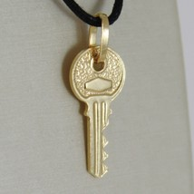 18K YELLOW GOLD FLAT KEY SMOOTH PENDANT CHARM, LUCKY, SECRET, LOVE MADE ... - $159.00