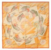 Hermes Scarf Face au Large Silk 90 cm Orange sea Ship Carre Stole Shawl 22 - $319.77