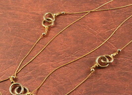 Gold Tone Double Chain Necklace - $3.95