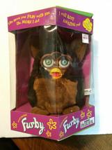 1999 Electronic Furby Black Brown Tiger Electronics Model 70-800 Tomy - $38.39