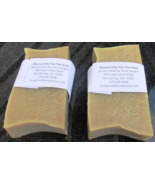 RhassoulClay TeaTree EssentialOil  Soap Vegan Friendly Two 4.9 ounce bars - $12.24