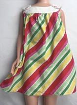 Gymboree Candy Stripe Dress Sleeveless 6-12 Mos White Pink Green Yellow bloomer - $36.62