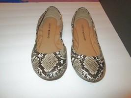 LUCKY BRAND Size 7 BALLET FLATS Erin SNAKESKIN Embossed COMFORT Slip On - $28.70
