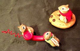Hallmark Handcrafted Ornaments Friendship Line & Chocolate Chipmunk AA-191794 Co image 3