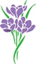 Crocus Flower Cross Stitch Chart - $8.00