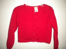 Gymboree Size 18-24 Months Red Button Front Baby Girls Cardigan Sweater - $7.92