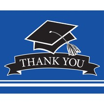 "School Spirit Cobalt 5"" x 4"" Thank You Note, Case of 75 - £28.98 GBP"