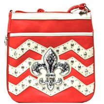 Fleur De Liz Messenger Bag CROSSOVER PURSE COLOR TOMATOE - $20.99