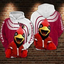 Arizona-Cardinals-Nfl-Mascot 3D Hoodie S-5XL , Gifts For Fans, Gift For Family - $33.82+