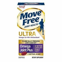 Move Free Ultra Omega, 30 softgels Joint Health Supplement with Omega 3 Krill... - $38.06