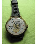 Vintage WATCH  Richard nixon shifty eye  very rare must see!!! - $177.28